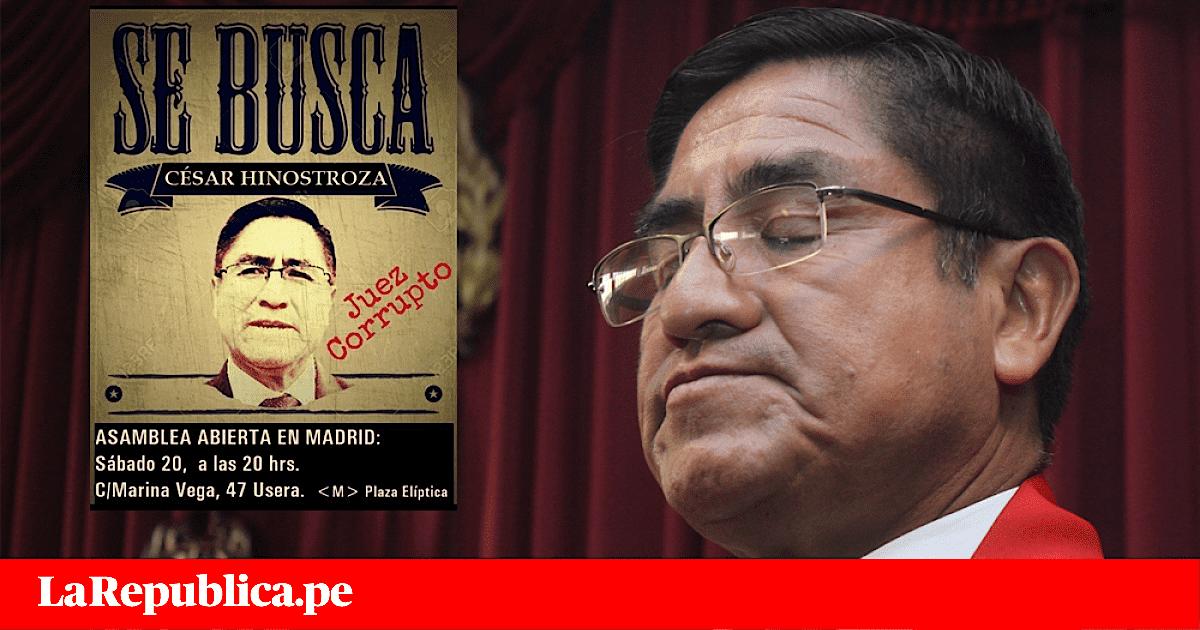 Peruanos en Madrid se organizan para impedir asilo de César Hinostroza