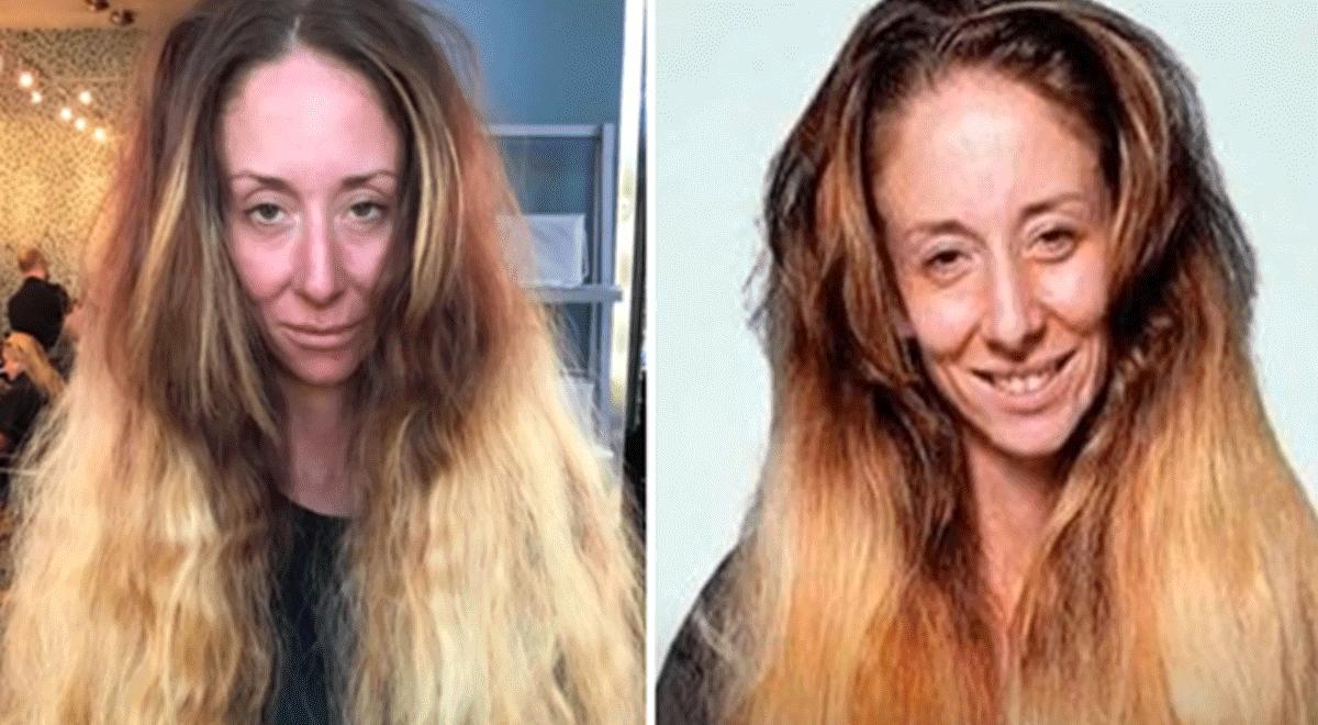 587eeff28 Facebook viral: chica poco agraciada pasa todo el día en peluquería y queda  radiante para su boca | Viral | Face | FB | Video | cambio de look |  Belleza ...