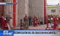 Arequipa: Escenificación del Vía Crucis en Paucarpata