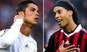 Facebook: Ronaldinho publica video donde compara sus jugadas con las de Cristiano Ronaldo