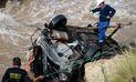 Las Bambas: Dos policías mueren tras caída de camioneta