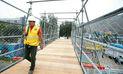 Municipalidad de Lima instaló puente provisional en Carretera Central