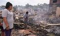 Incendio quemó más de 200 puestos en Madre de Dios