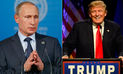 Donald Trump agradeció halagos de presidente ruso Vladimir Putin