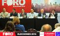 'Foro Elecciones 2016': Equipos técnicos presentaron propuestas en sector salud
