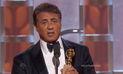 Sylvester Stallone ganó como mejor actor de reparto en los Globos de Oro   VIDEO