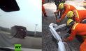 YouTube: Pareja muere aplastada tras chocar con camión que cargaba piedras