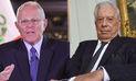 Kuczynski sostuvo una reunión con Mario Vargas Llosa en su vivienda