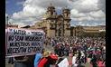 Padres en Cusco marchan contra huelga magisterial