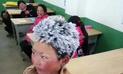 En China la foto de un niño congelado por el frío se vuelve viral