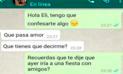 WhatsApp: Quería retornar con su exnovia y su actual pareja tuvo inesperada reacción [FOTOS]