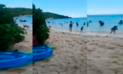 """Facebook: se refrescó en la playa y sorprendió a todos con sus """"sandalias"""" [VIDEO]"""