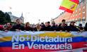 """Decenas de venezolanos se manifiestan en Madrid contra el """"régimen de Maduro"""""""