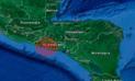 Sismo de 6 grados sacude la costa de El Salvador