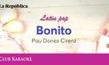 Bonito, canción de Pau Dones Cirera