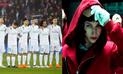 Real Madrid vs Juventus: Comparan clasificación 'merengue' con 'La Casa de Papel'