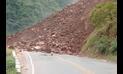 Lluvias originan derrumbe y bloqueo en vía Belaunde Terry