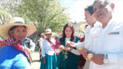 Gustavo Mostajo inaugura obras de riego para potenciar la pequeña agricultura