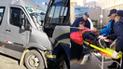 Choque entre combi y minivan deja 10 personas heridas en Juliaca