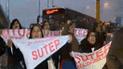 Protesta del Sutep interrumpe vías del Metropolitano y Av. Caquetá [VIDEO]