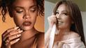 Thalía viste extraño atuendo de rosas y Rihanna se burla de ella[FOTOS]