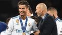 """Zinedine Zidane elogió a Cristiano Ronaldo: """"Es un líder en el campo"""""""