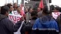 Profesores del SUTEP toman y bloquean vía del Metropolitano[VIDEO]