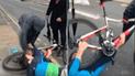 Facebook: intentan robarle su bicicleta y se arrastró hasta defenderla [VIDEO]