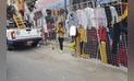 Trujillo: convierten pistas en mercado informal [FOTOS]
