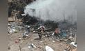 Huancayo: Incendio dejó en escombros vivienda de reciclador [FOTOS]