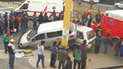Tres menores heridos tras violento choque en Tacna