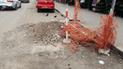 #YoDenuncio: desmonte por obras es abandonado en pista