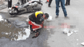 Niño murió arrollado por un camión tras caer de una moto
