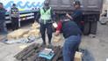 Áncash: hallan casi media tonelada de cocaína en espacios ocultos de camión