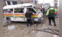Comas: combi con fallas mecánicas y repleta de pasajeros choca contra tres mototaxis [FOTOS Y VIDEO]