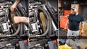 Facebook: mecánico confiado arriesga su vida luego de hacer peligrosa maniobra [VIDEO]