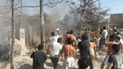 Piura: intentan apagar incendio con arena debido a la falta de agua