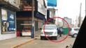 Indignación por conductor de minivan que maneja en sentido contrario y casi ocasiona accidente  [VIDEO]