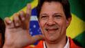 Haddad afirmó que Lula da Silva es su 'líder' en su primer discurso como candidato