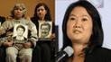 Keiko Fujimori saluda condena a Sendero Luminoso y le recuerdan caso de La Cantuta