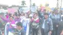 Con marcha maestros, padres y alumnos exigen obra del Raimondi