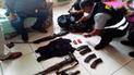 Chiclayo: sujeto tenía colección de armas de guerra en su vivienda