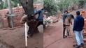 Argentina: hombre golpea a su mujer y la amenaza con un machete[VIDEO]