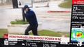 Vía Facebook: reportero queda en ridículo por exagerar fuertes vientos en vivo [VIDEO]
