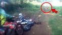 YouTube viral: terror por extraña criatura humanoide que aparece en bosque y ataca a motociclistas [VIDEO]