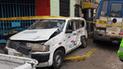 Jesús María: vendedor de desayunos muere tras choque entre cúster y auto en avenida Arenales [FOTOS y VIDEO]