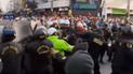 La Victoria: violento enfrentamiento entre ambulantes y policías durante desalojo en Gamarra [VIDEO]