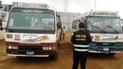 Incautan buses de transporte público que eran usados para cometer robos [VIDEO]