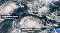 México: huracán Rosa y tormenta Sergio dejarán intensas lluvias