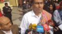 Junín: protestas se desatan a la llegada del Presidente Martín Vizcarra